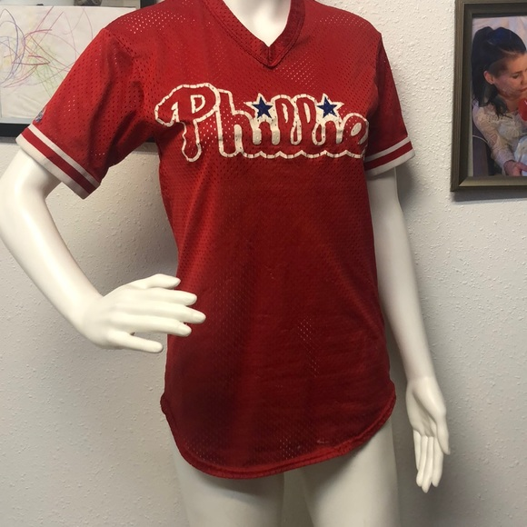 buy online baaa8 1fd67 Vintage Phillies baseball jersey